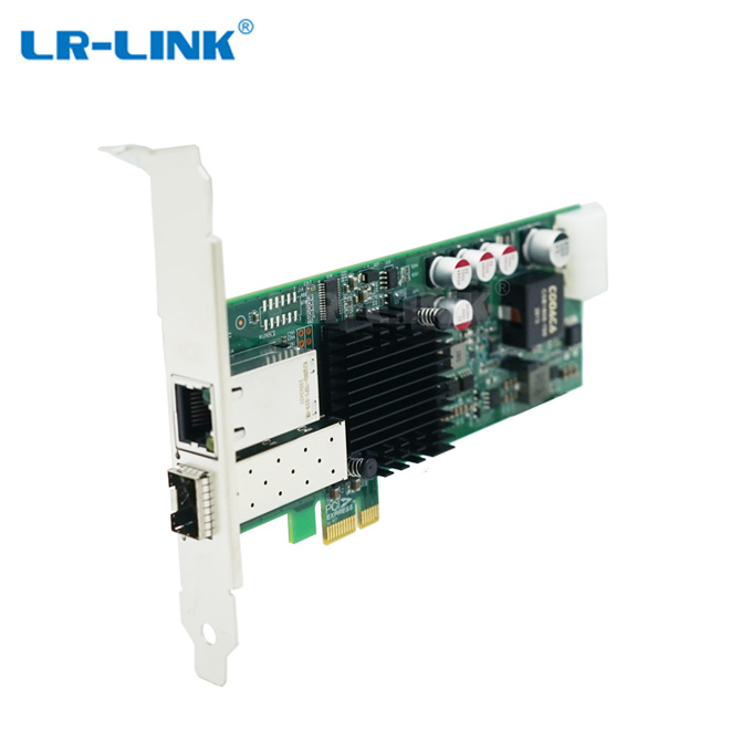 SFP & Copper Hybrid PoE+ Ethernet Network Adapter
